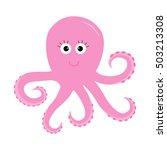 Octopus Zoo Alphabet. Ocean Se...