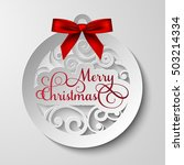 vector merry christmas card  ... | Shutterstock .eps vector #503214334