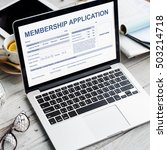 Small photo of Membership Application Form Register Concept
