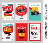 set of sale website banner... | Shutterstock .eps vector #503217220
