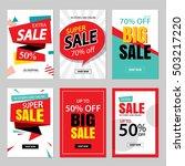 set of sale website banner... | Shutterstock .eps vector #503217220