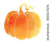 happy halloween  hand written...   Shutterstock .eps vector #503217676