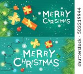 merry christmas and happy new... | Shutterstock .eps vector #503219944