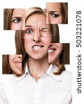 woman face collected from... | Shutterstock . vector #503221078