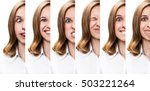 young woman expressing... | Shutterstock . vector #503221264