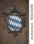 Bavarian Crest On Old Wooden...