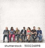 diverse group of people... | Shutterstock . vector #503226898