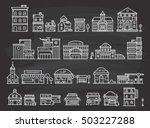 set of cute building doodle | Shutterstock .eps vector #503227288
