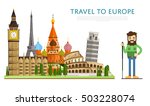 travel europe with europe... | Shutterstock .eps vector #503228074