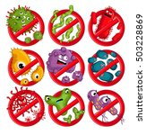 cartoon viruses characters... | Shutterstock .eps vector #503228869