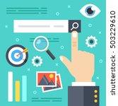 internet search. finger... | Shutterstock .eps vector #503229610