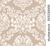 vector damask seamless pattern... | Shutterstock .eps vector #503230000