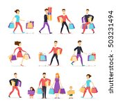 sale. collection going people... | Shutterstock .eps vector #503231494