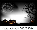halloween night | Shutterstock .eps vector #503233984