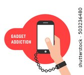 gadget addiction with phone and ... | Shutterstock .eps vector #503236480