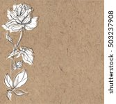 Floral Monochrome Background...