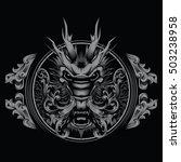 t shirt design tattoo chinese... | Shutterstock .eps vector #503238958