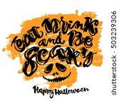 halloween lettering poster ... | Shutterstock .eps vector #503239306
