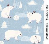 winter vector seamless pattern... | Shutterstock .eps vector #503239459