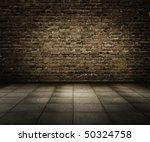 old grunge interior with brick...   Shutterstock . vector #50324758