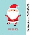 ho ho ho santa claus greeting... | Shutterstock .eps vector #503249668