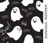 seamless pattern of cute little ... | Shutterstock .eps vector #503249824