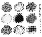 Abstract Halftone Backgrounds...