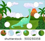 funny cute diplodocus on the... | Shutterstock . vector #503250358