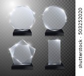 glass trophy award. vector... | Shutterstock .eps vector #503252020