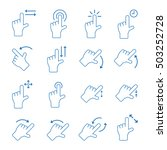 touch gesture vector icons   Shutterstock .eps vector #503252728