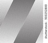 vector halftone line transition ... | Shutterstock .eps vector #503252800
