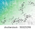 blue and green music background | Shutterstock .eps vector #50325298