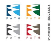 abstract path or river labels... | Shutterstock .eps vector #503253316