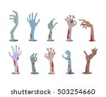zombie hands sticking out from... | Shutterstock .eps vector #503254660