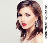 cute woman. beautiful face ... | Shutterstock . vector #503255404