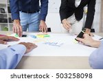 group of business people having ... | Shutterstock . vector #503258098