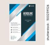 business brochure flyer design... | Shutterstock .eps vector #503259526