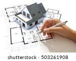 hand sketching on an... | Shutterstock . vector #503261908