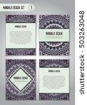tribal mandala design set.... | Shutterstock .eps vector #503263048