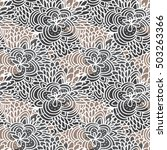 vector seamless floral... | Shutterstock .eps vector #503263366