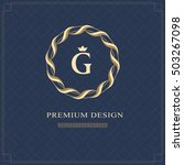 emblem of the weaving circle.... | Shutterstock .eps vector #503267098