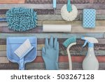 a lot of cleaning tool... | Shutterstock . vector #503267128