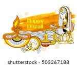 illustration of lady burning... | Shutterstock .eps vector #503267188