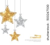 merry christmas and happy new... | Shutterstock .eps vector #503267530
