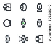 smart watch icons isolated on...