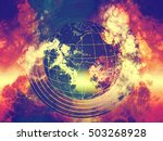 world destroy  world ending ... | Shutterstock . vector #503268928