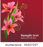 lilly on red background | Shutterstock .eps vector #50327257