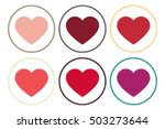 heart icon vector.valentine... | Shutterstock .eps vector #503273644