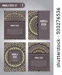 tribal mandala design set.... | Shutterstock .eps vector #503276536