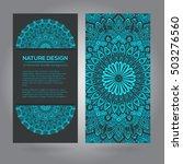 tribal mandala design set.... | Shutterstock .eps vector #503276560